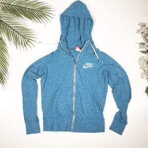 Nike | Light Blue Gym Vintage Full Zip Hoodie